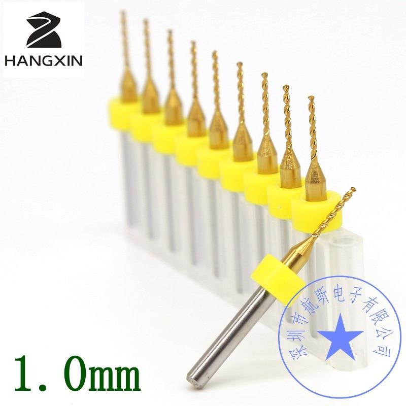 10PCS titanem potažená karbidová vrták 3.175mm * 1.0mm fréza, deska s plošnými spoji miniaturní, řezbářské kovové dřevěné nástroje
