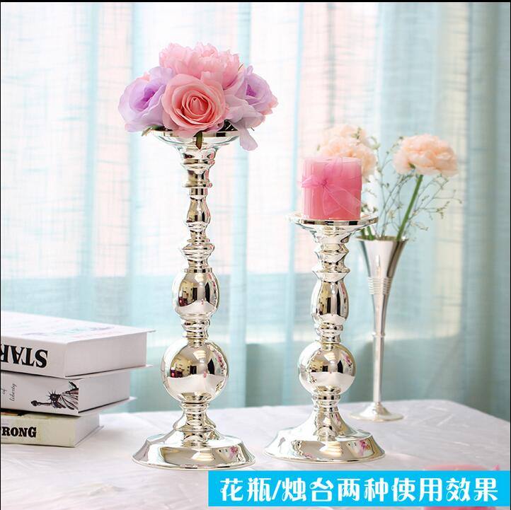 metal plateado plata europea florero de mesa decoracin del hogar flores decorativas tall jarrones para la