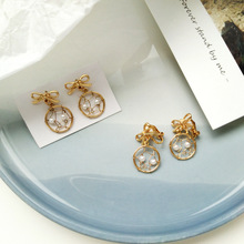 Fashionable new metal braid bow-tie earrings creative fun dream catcher temperament female jewelry