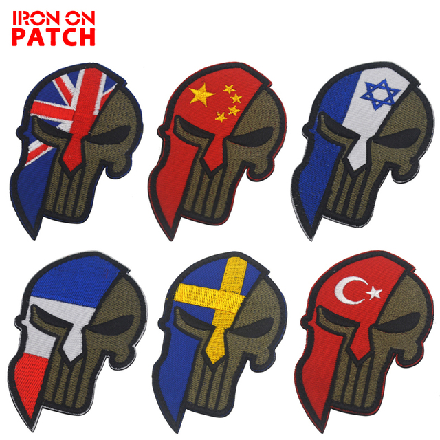 Molon Labe Punisher Spartan Morale Patches Tactical Chastiser Military  Embroidered Patch DIY For Clothing Hat Backpack 36d9b9c2e72