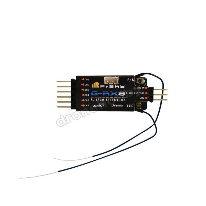 Frsky GRX8 récepteur SBUS/PWM commutation de signal transmission de données sauvegarde de sécurité intégrer avec capteur de variomètre de haute précision