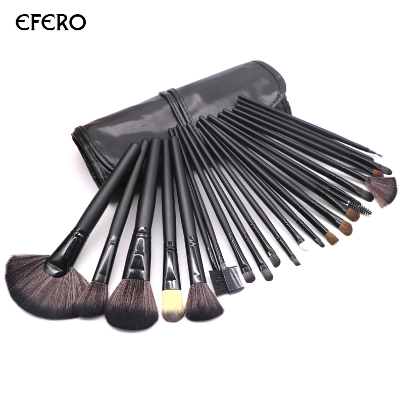 2 Sets efero Makeup Brushes Professional Powder Brush Set Blusher Foundation Cosmetic Brushes Concealer Beauty Make Up Tools new portable flat contour makeup brush used with powder blusher concealer make up brushes as beauty cosmetic tool maquiagem