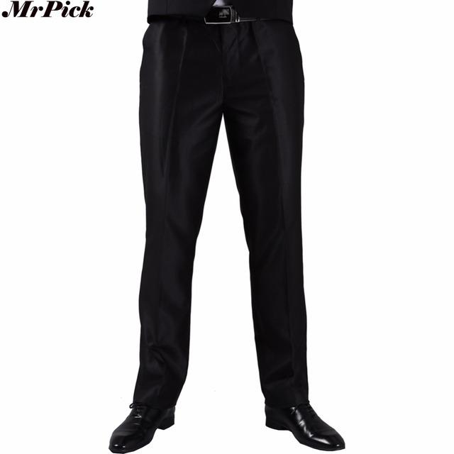 (Pant individual) de alta Calidad de Los Hombres de Traje Pantalón 2017 Nueva Llegada Slim Fit Marca de Moda Vestido de Boda de Negocios Pantalones J1004