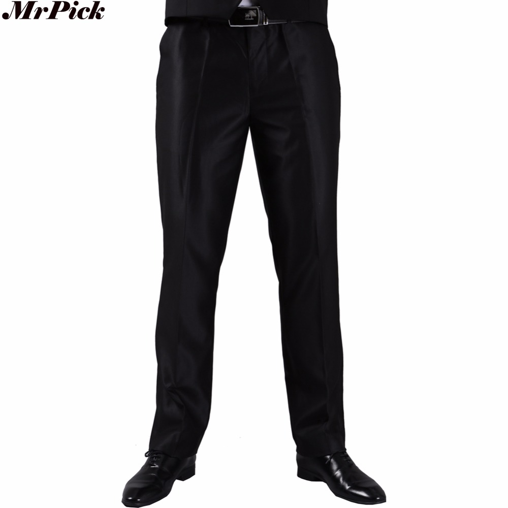 mrpick Men Suit Pant Slim Fit Business Dress Trousers