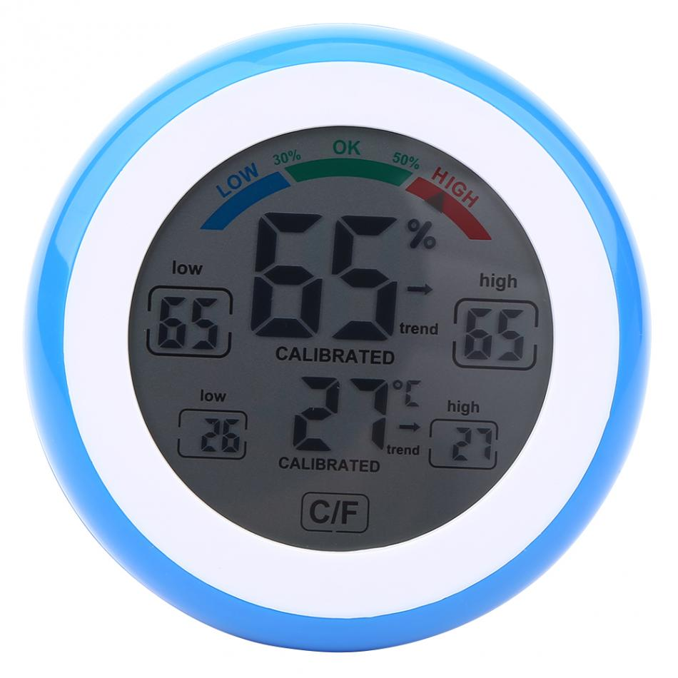 Digital LCD Display Indoor Thermometer Hygrometer Round Wireless Electronic Temperature Humidity Meter Weather Station Tester Digital LCD Display Indoor Thermometer Hygrometer Round Wireless Electronic Temperature Humidity Meter Weather Station Tester