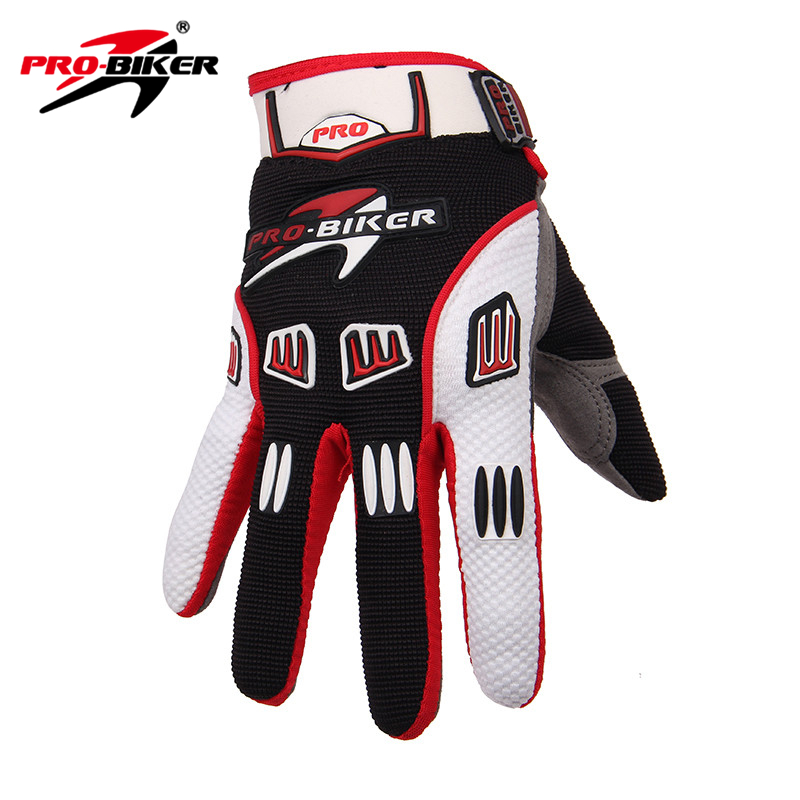 PRO-BIKER Motocross Off-Road Full Finger Gloves Racing Riding Motorcycle Gloves Breathable Bicycle Bike MTB Cycling Guantes pro biker motorcycle riding gloves breathable motocross off road racing moto full finger gloves with stainlesssteel injection