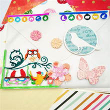 ZhuoAng New tree bird design cutting mold making DIY clip art book decoration embossing