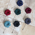 Envío de la manera de LOS HOMBRES 2016 de Los Hombres masculinos camisa de cuello vestido de Rose Broche Broche ramillete de flores hechas a mano de Corea mujeres venta