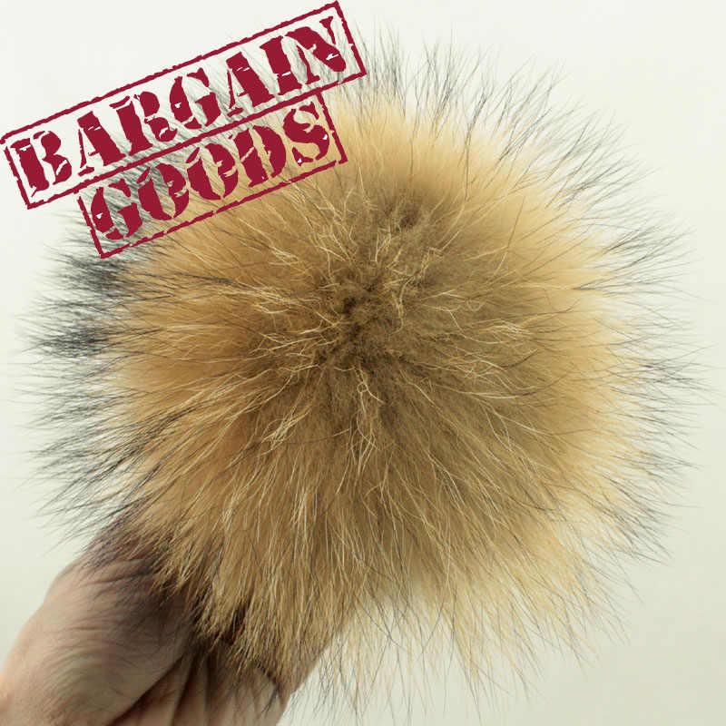 2 pc 10 cm Real de pele de Guaxinim pompons bolas de pêlo chapéu lenços cap crianças chapéus Jóias diy para a corrente chave fazer acessórios