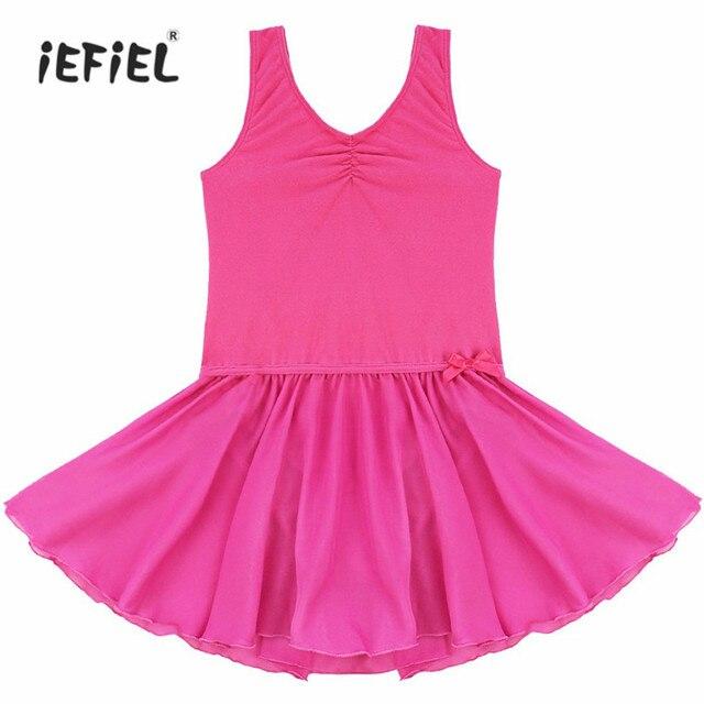 5fa069ccb Kid Girls Sleeveless Ballet Tutu Dance Dress Fitness Gymnastics Wear ...