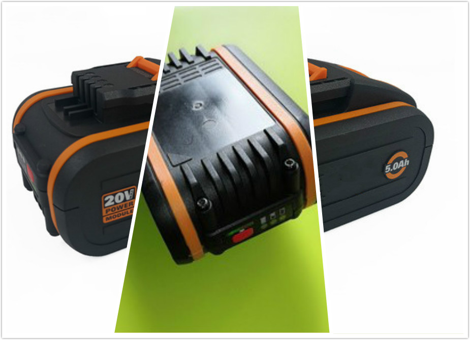 20V Battery 5000mah Li-ion for Power Tool Worx WX390/WX176/WX166.4/WX372.1 WX800/WX678/WX550/WX532/WG894E WG629E/WG329E/WG2