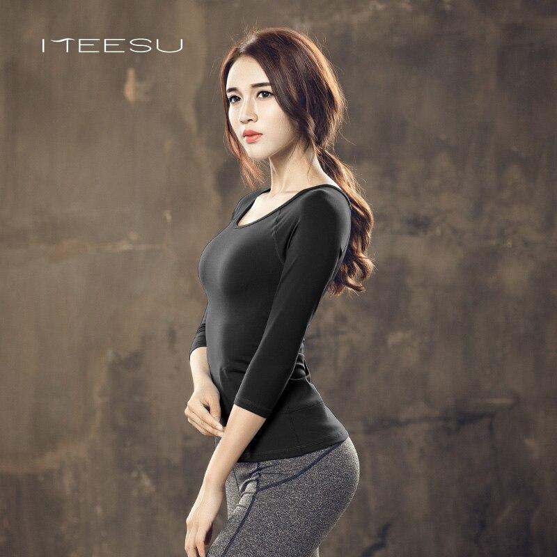 Femmes Fitness Respirant Sportswear Femmes Chemise Costume De Yoga À Séchage Rapide Top Solide Running Sport usure d'entraînement tops à manches longues