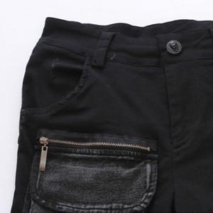 Image 5 - TWOTWINSTYLE Denim Pant For Women Patchwork Pocket Zipper Plus Size Pencil Jeans Spring 2020 Female Fashion Harajuku Clothing