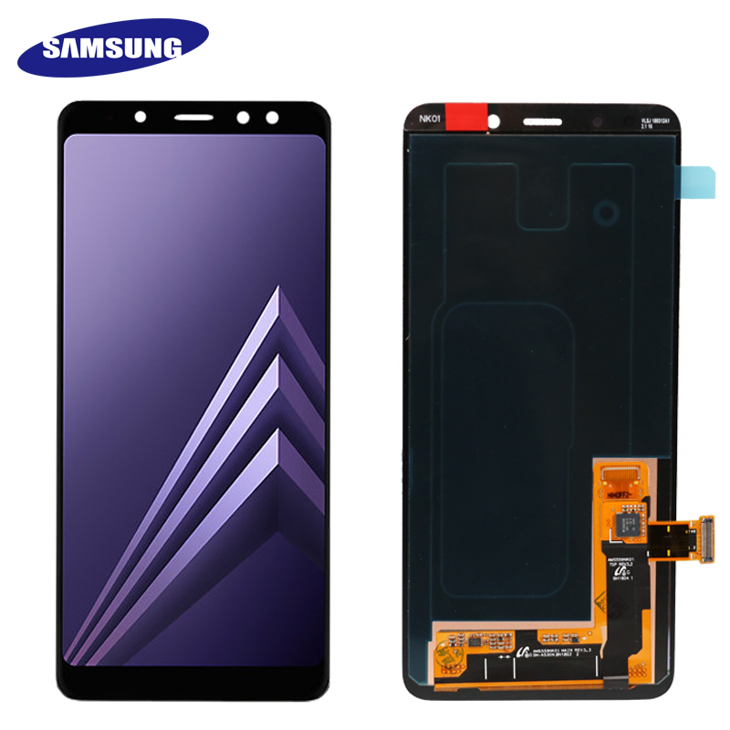 Image 2 - 100% ORIGINAL AMOLED 5.6'' Display LCD for SAMSUNG Galaxy A8 2018 LCD A530 LCD Touch Digitizer Assembly Brightness adjusted-in Mobile Phone LCD Screens from Cellphones & Telecommunications