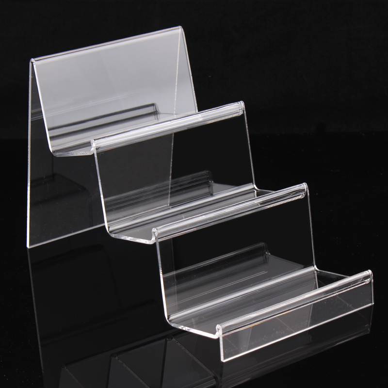 factory item show packaging countertop digital display items acrylic earphone shelf organizer stand layer price clear wallets commodity jewelry in