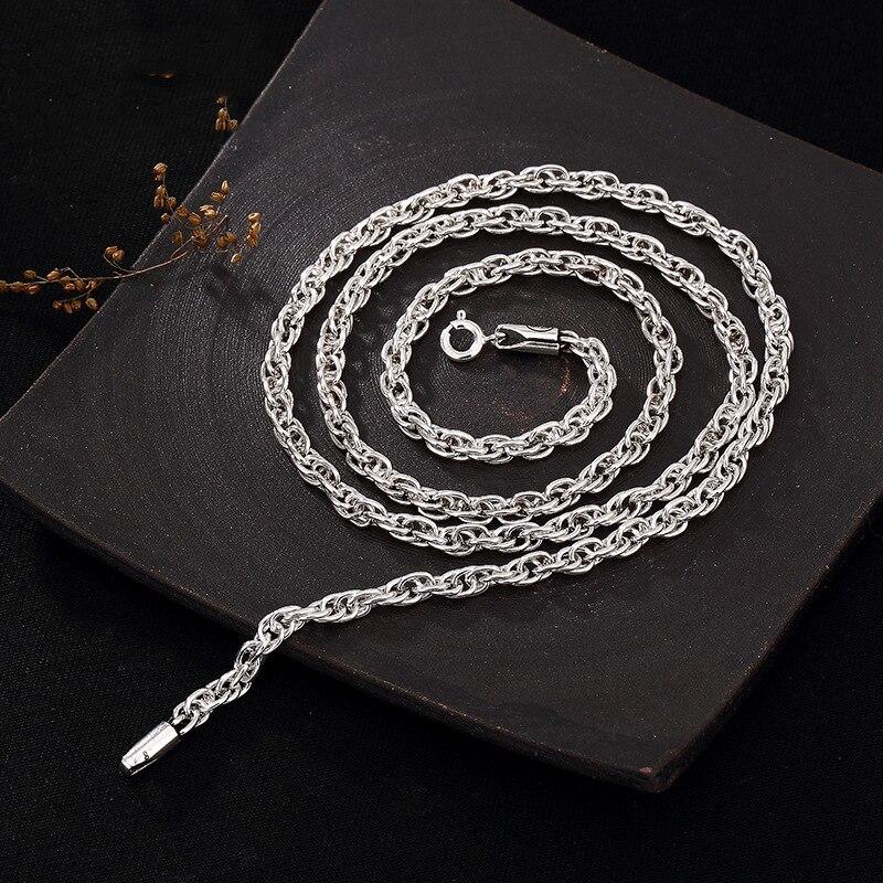 Long Necklace Silver 925 Long Link Chains 46CM-76CM Statement Necklace For Women HN064 светоотражатель westcott gold silver panel 76cm 1334
