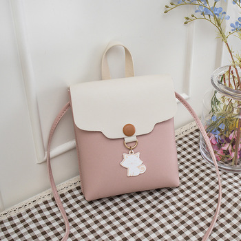 Crossbody Bags For Women 2018 New Korean Style Mini Pink Bag Cat Pendant Student Shoulder Bag PU Leather Messenger Bags Girls