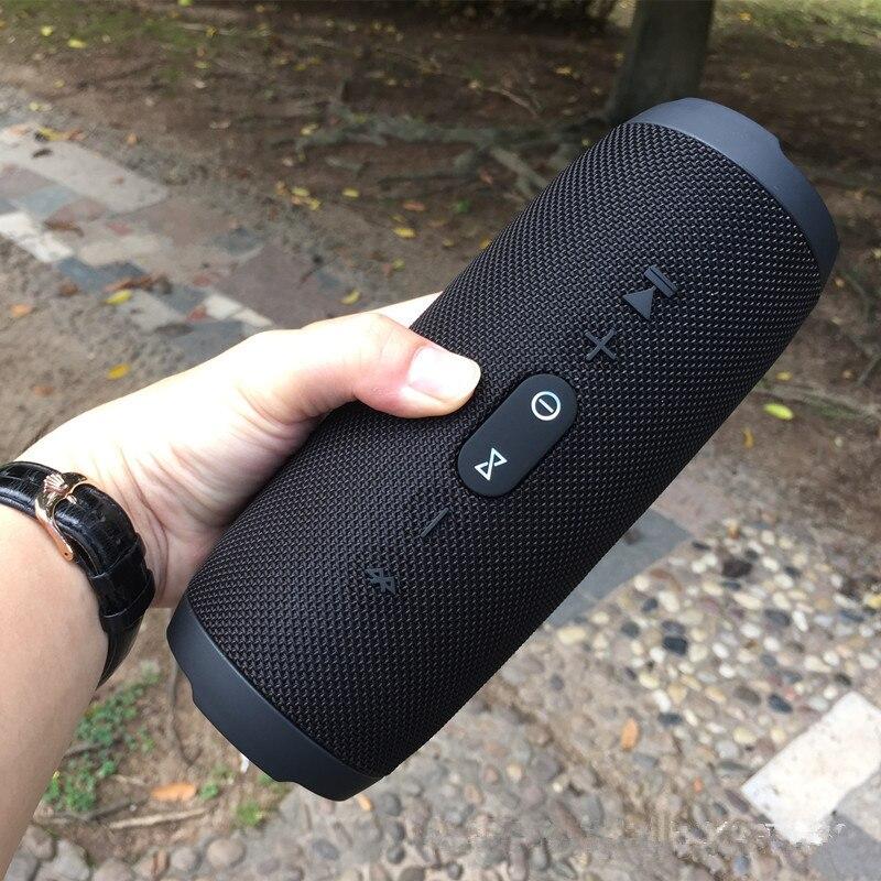 Haut-parleur Portable Bluetooth colonne de musique haut-parleurs à ondes de choc extérieur sans fil stéréo Hi-Fi Anti-éclaboussures pour téléphone pc jbl