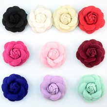 120pcs/lot 10 Color 7cm Budding Stereo Cabbage Roses Felt Flowers Wedding Decoration Clothing Shoes Garment Accessories TH219