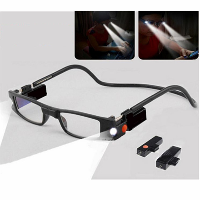 bd9106f8626 HighSlim Reading Glasses With LED Light MG Function Dioptrie Woman Magnetic  Glasses Magnet 1.0 1.5 2.0 2.5 3.0 3.5 4.0