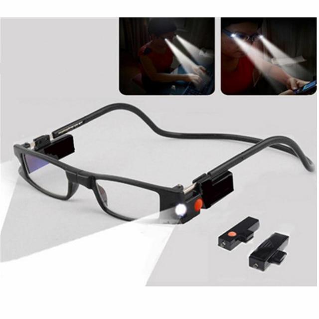 fa5af02f1e HighSlim gafas de lectura con luz LED MG función Dioptrie mujer vidrios  magnético imán 1,