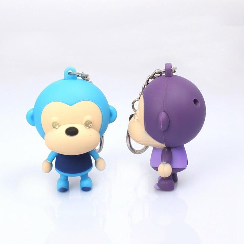 sound light keychains for Hallowmas gift Christmas flashlight sound monkey Fashion Jewelry