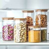 Tampion Lunwen114cereals Glass Bottle Flower Tea Food Storage Bottle Sealed Cans Storage Tank Glass Jar