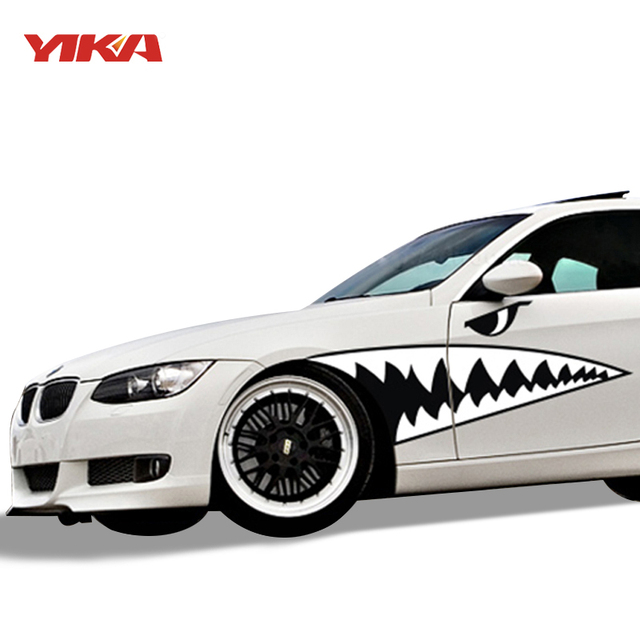 Car styling accessories car body 3d shark mouth waterproof decals sticker car scratch cover