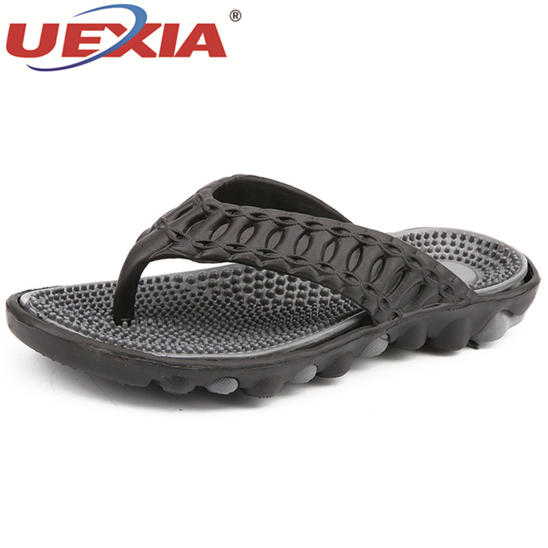 UEXIA Fashion Flip Flops Men Massage Summer Shoes Men Slippers Beach Men Flip Flops Sandalias Hombre Slide Outdoor Beach Flats цены онлайн
