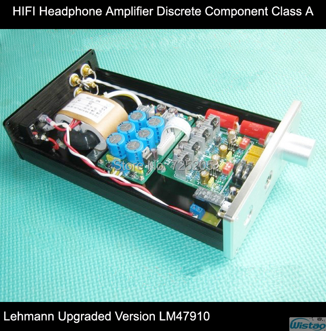 IWISTAO Headphone Amplifier Pure HIFI Class A Amp Discrete Component  Lehmann Upgraded Version Metal-sealing  LM47910 iwistao 2x20w hifi amplifier stereo