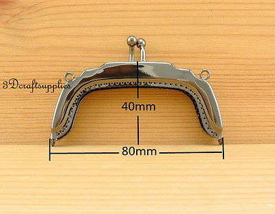 bag frame sewing purse frame metal frames fancy die casting 8 cm gunmetal B1