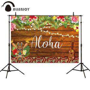 Image 2 - Allenjoy fondo de fotografía Aloha tiki luau fiesta cumpleaños niño madera flor tropical telón de fondo cabina de estudio fotográfico