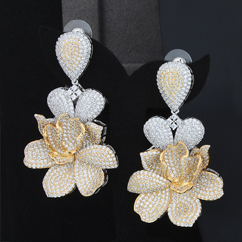 Big Peony Flower Jewelry Set 2