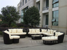 9-pcs luxury resort beach sofa furniture Pastoralism Home Indoor / Outdoor Rattan Sofa For Living Room