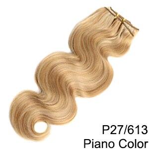 Doreen заколки для волос в полный набор головы 160 г 200 г искусственные волосы одинаковой направленности настоящие натуральные человеческие волосы для наращивания зажим для волос - Color: P27/613