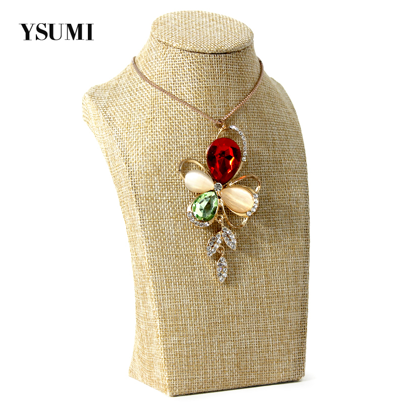 YSUMI 20cm Jute Jewelry Display Stand Packaging Stand for Jewelry Necklace Display Holder Necklace Bust Jewelry organizer