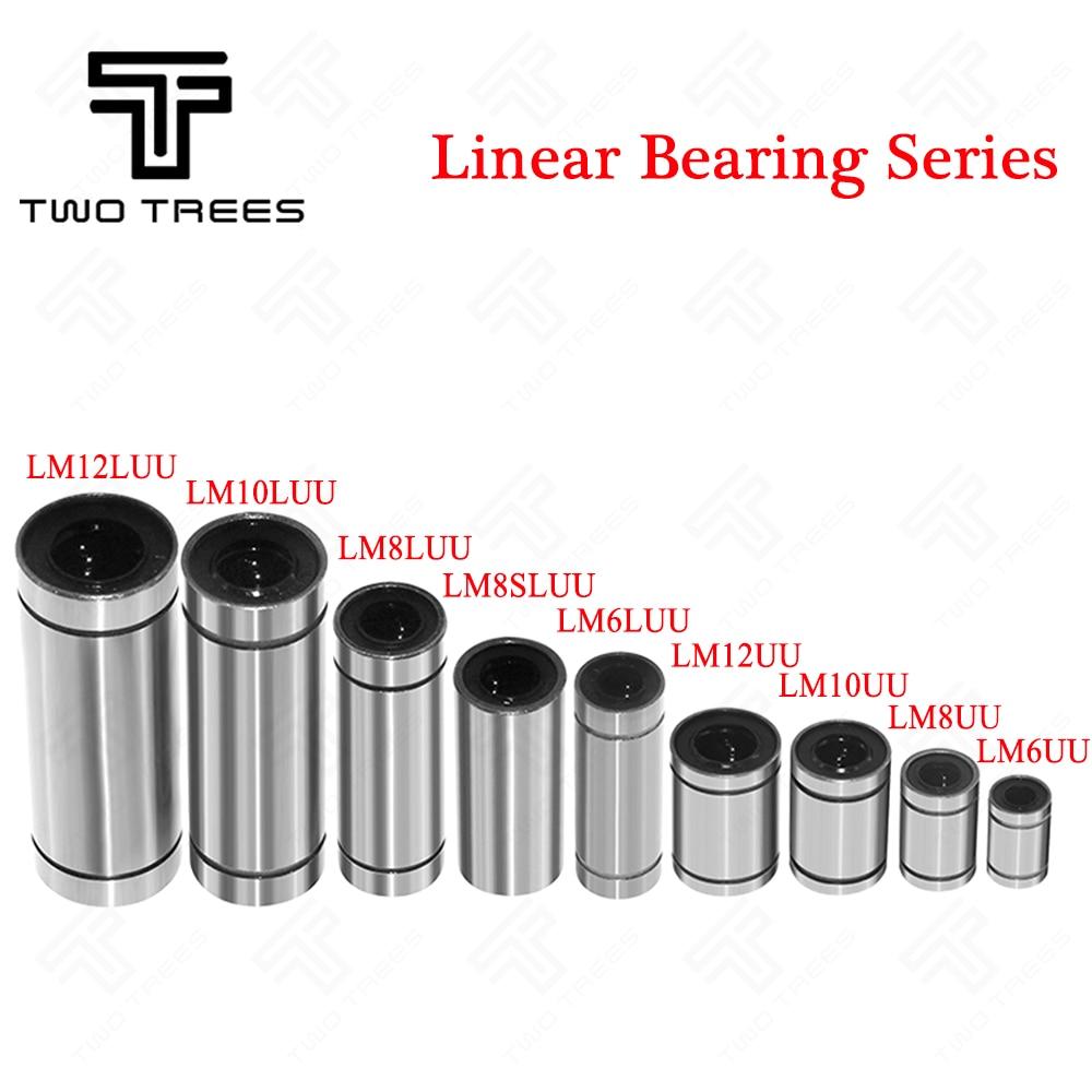 2PCS//lot LM12UU Linear Ball Bearings Crossword Clue Bush Bushing 3D Printers Parts Accessories Linear Bushing Shaft