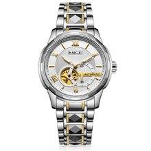 2017 New Hot Sale Top Brand Automatic Watch White Black Tungsten Watchband Tourbillon Skeleton Waterproof Mechanical Man Watches
