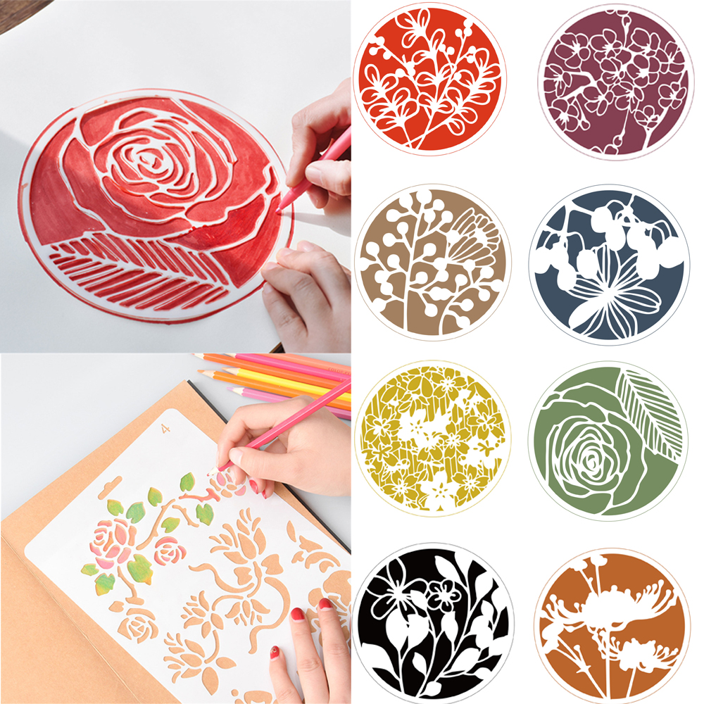 DIY Round Hollow Layering Stencils For Wall Painting Scrapbooking Stamping Stamp Album Decorative Embossing Paper Card