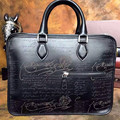 TERSE_Best venta hecha a mano maletín de cuero logotipo personalizado bolsa de piel de becerro de los hombres de lujo de diseño Italiano fabricante de China