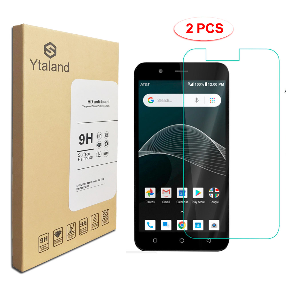 US $2 98 |Ytaland Tempered glassFor AT/T Axia QS5509a Tempered Glass Film  Screen Protector Toughened Protective Film-in Phone Screen Protectors from