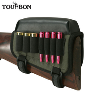 Tourbon Hunting Gun Accessories Rifle Shotgun Universal Cheek Rest Riser Pad Cartridges Ammo Holder Left Handed