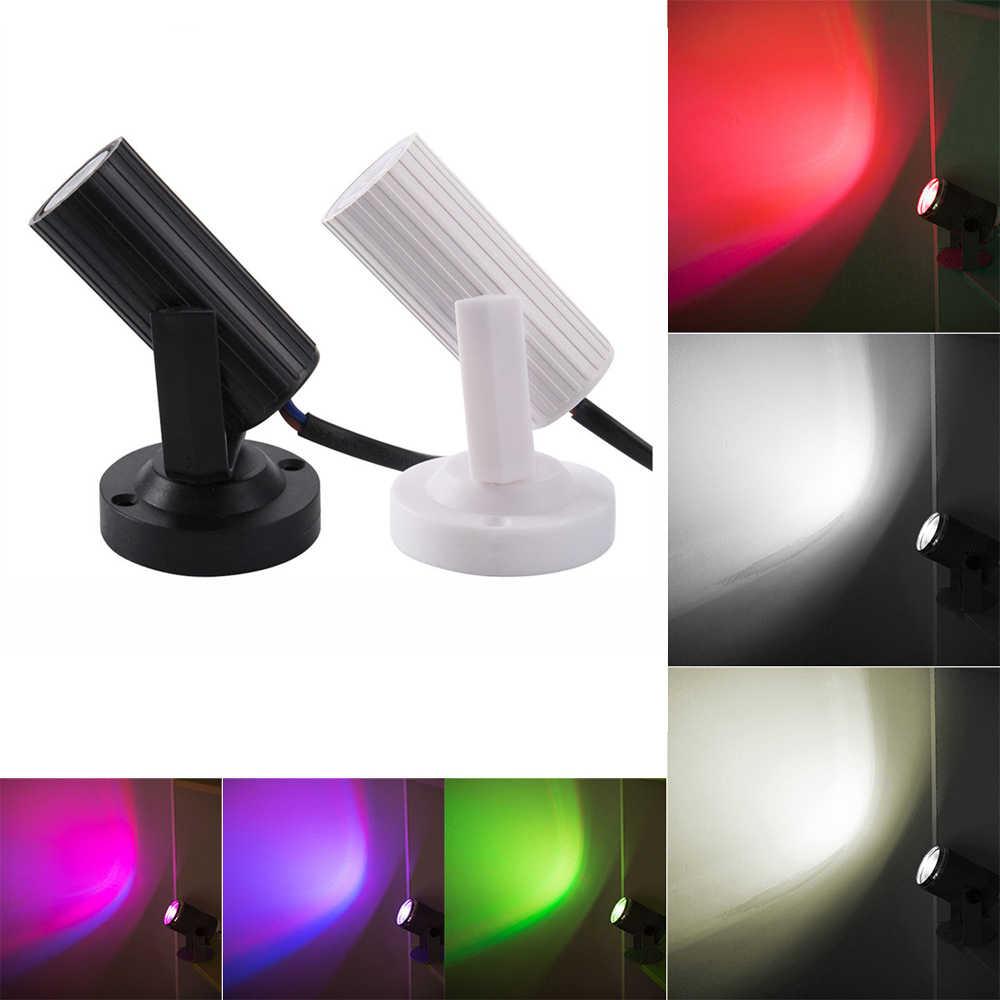 Mini portátil RGB LED Beam Spotlight Luz de escenario DJ KTV hogar Navidad Fiesta Dsico LED Show iluminación de escenario