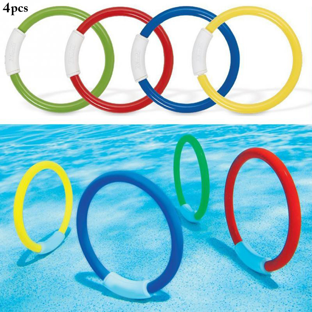 4PCS/lot Diving Ring Funny Assorted Color Diving Toy Swimming Pool Toy For Kids
