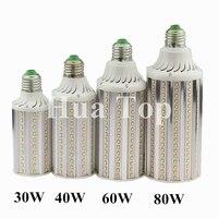 Светодиодные лампы Bombillas лампа E27 E40 30 Вт 40 Вт 60 Вт 80 Вт AC 85-265 в лампада Алюминий светодиодный свет мозоли точечные лампы SMD2835 светодиодный лам...