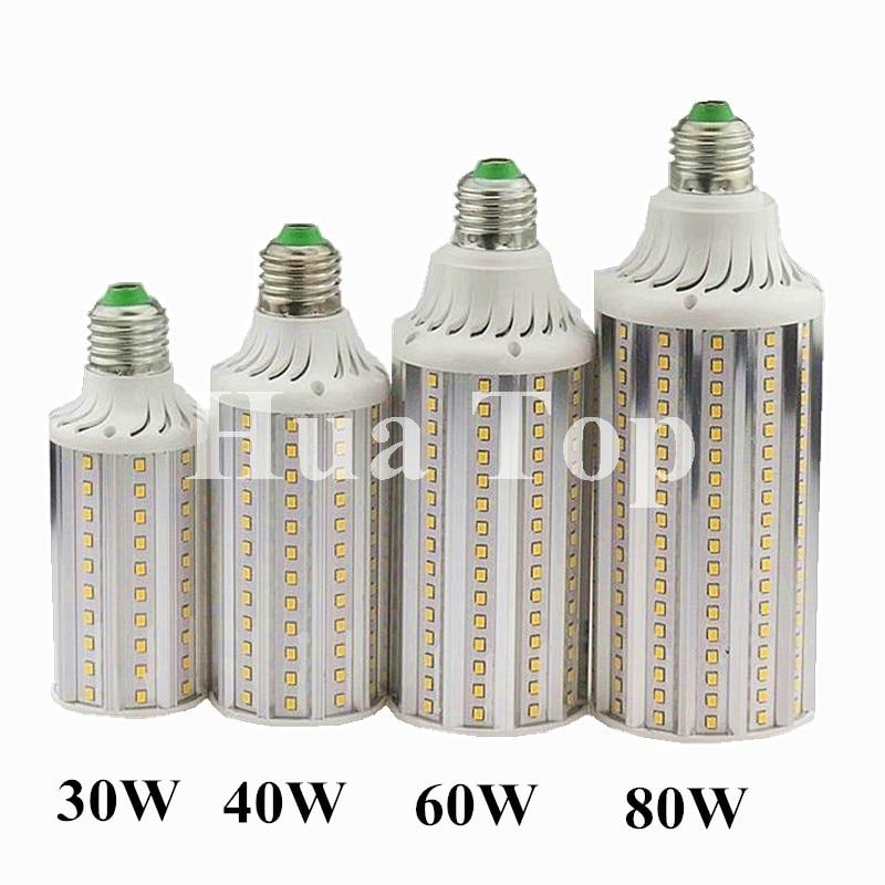 Bombillas LED Mais Birne Lampe E27 E40 30 watt 40 watt 60 watt 80 watt AC 85 v-265 v Lampada Aluminium LED Mais Licht Spot Lampen SMD2835 LED Lampen