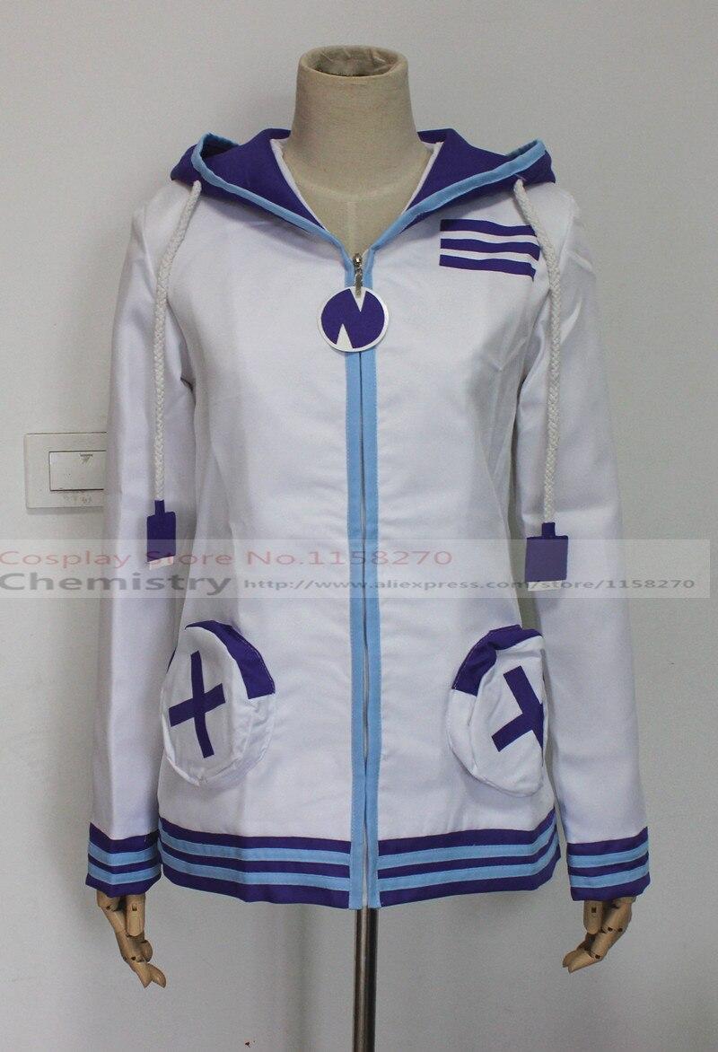 Hyperdimension Neptunia Neptune Purple Heart Sweatshirt Cosplay Hoodie Zip Coat