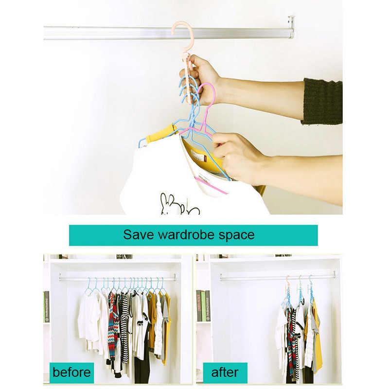 Hot Sale Plastic Multilayer Hanger Hook Household Non-slip Wardrobe Clothes Hanger Fixed Windbreak Buckle
