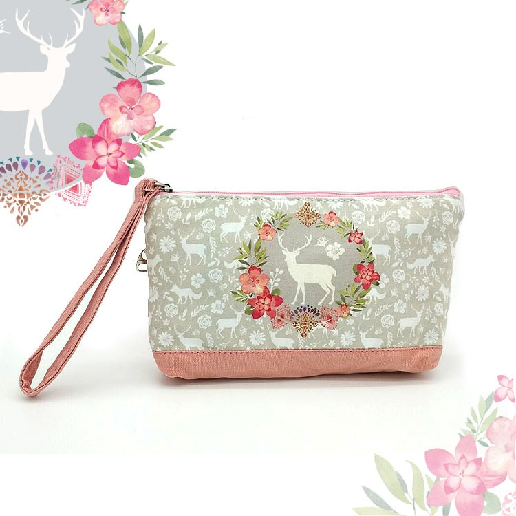 Cosmetic Bags Small Canvas Portable Women Makeup Bags Cartoon Girls Toiletry Bag Cute Makeup Pouch Zipper Travel Organizer H63M girls cute makeup bags portable women cotton organizer cosmetic bag thicken beauty pouch storage bag cosmetic toiletry bags