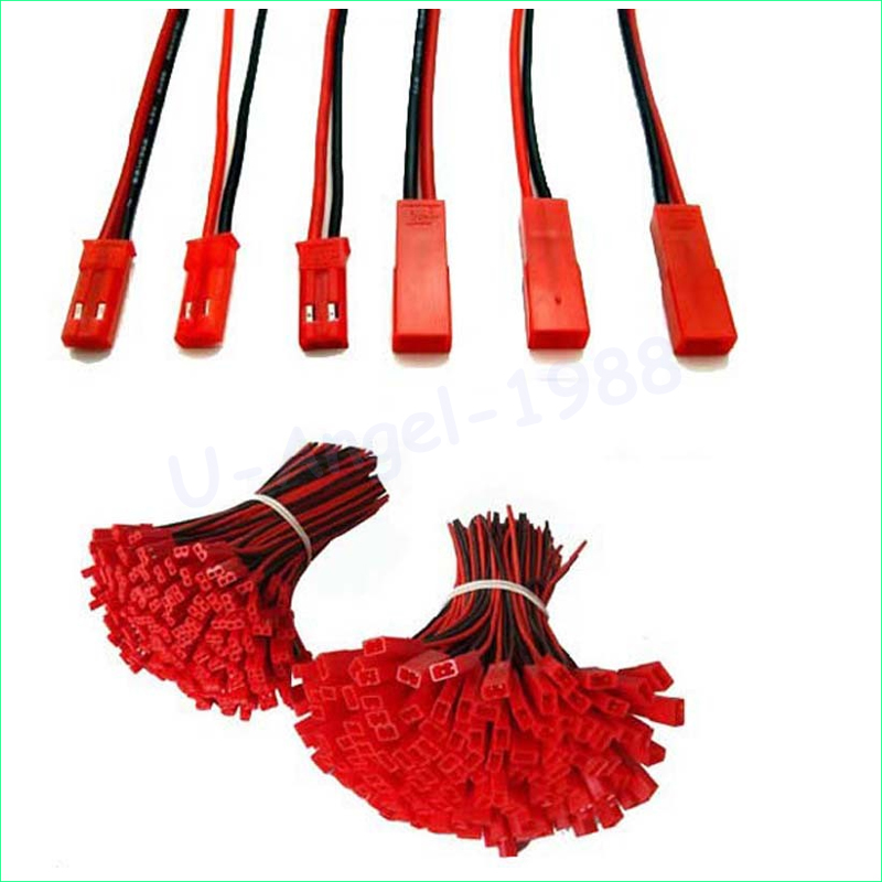 40pcs 100mm 150mm 200mm JST Male Female Connector Plug For RC Lipo Battery (20pair)